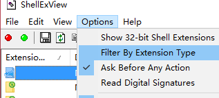 Filter By Extension Type